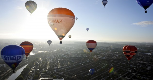 Up in the air: Balloon festival takes to the skies of England