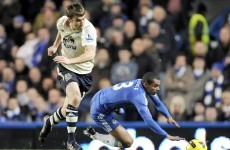 Irish eye: Seamus Coleman makes his case for the defence in the Premier League action