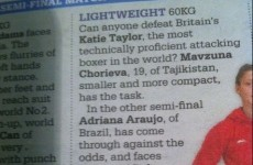 The Daily Telegraph thinks Katie Taylor is British