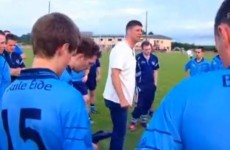 VIDEO: Niall Quinn, Junior B Gaelic football manager