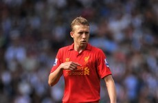 Liverpool lose Lucas for up to three months