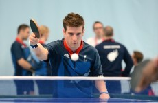 VIDEO: GB Paralympian David Wetherill plays a table tennis shot you really have to see