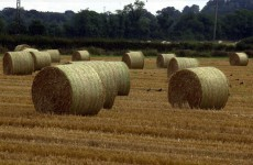 M1 closed as lorry-load of hay catches fire