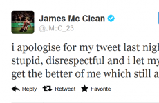 James McClean apologises for 'disrespectful' tweet