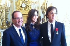 Paul McCartney receives France's highest honour