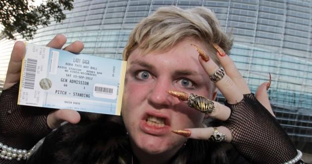 Photos: Fans queue for over a week for Lady Gaga Dublin gig