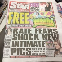 Irish Daily Star criticised by palace and UK owners for publishing topless Kate pics