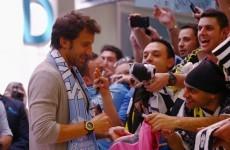 Del Piero lands in Sydney 'to start new career'