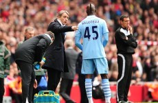 Mancini can't explain tunnel bust-up with Balotelli