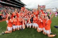 Armagh celebrate ladies intermediate football triumph