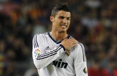 Ronaldo sprains shoulder, in doubt for Portugal's clash with Northern Ireland