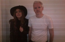 Unlikely Celebrity Meeting of the Day: Lady Gaga and Julian Assange