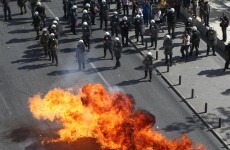 Violence breaks out at Greek anti-austerity protest