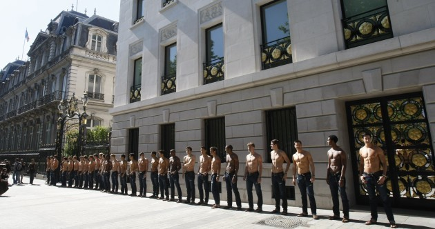 Have you seen these men? Topless Abercrombie and Fitch 'hotties' hit Dublin