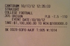 Floyd Mayweather Jr won $1 million on a college football game