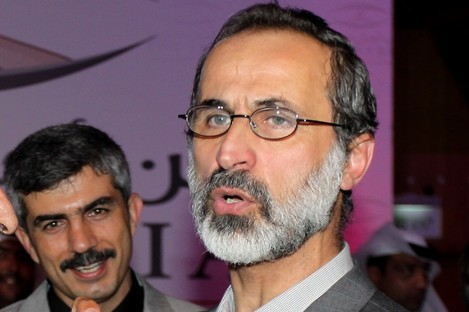 Leader of Syria's newly united opposition Ahmed al-Khatib.