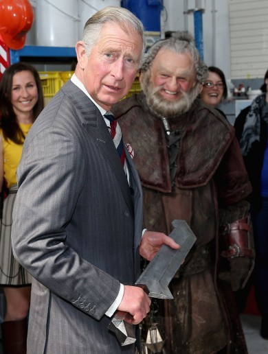 Photos: Prince Charles gets in touch with his inner Hobbit