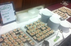 Do they do good sushi in Limerick? Here's your international rugby lunch of the day