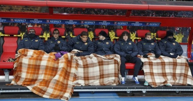 Snapshot: Spot the hard man on the Barcelona bench in Russia last night