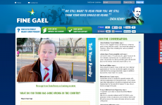 Fine Gael's website returns - with a defiant message from Enda