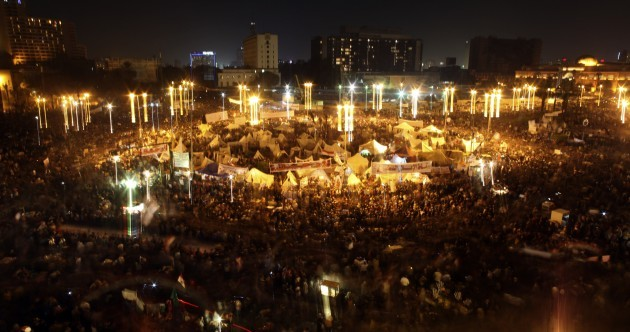 Pics: Clashes as Egyptians take to Tahrir Square in their thousands... again