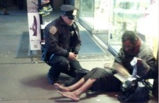 Homeless NY man barefoot again despite officer buying him boots