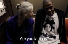 WATCH: Jay-Z talks to an old lady on the subway...