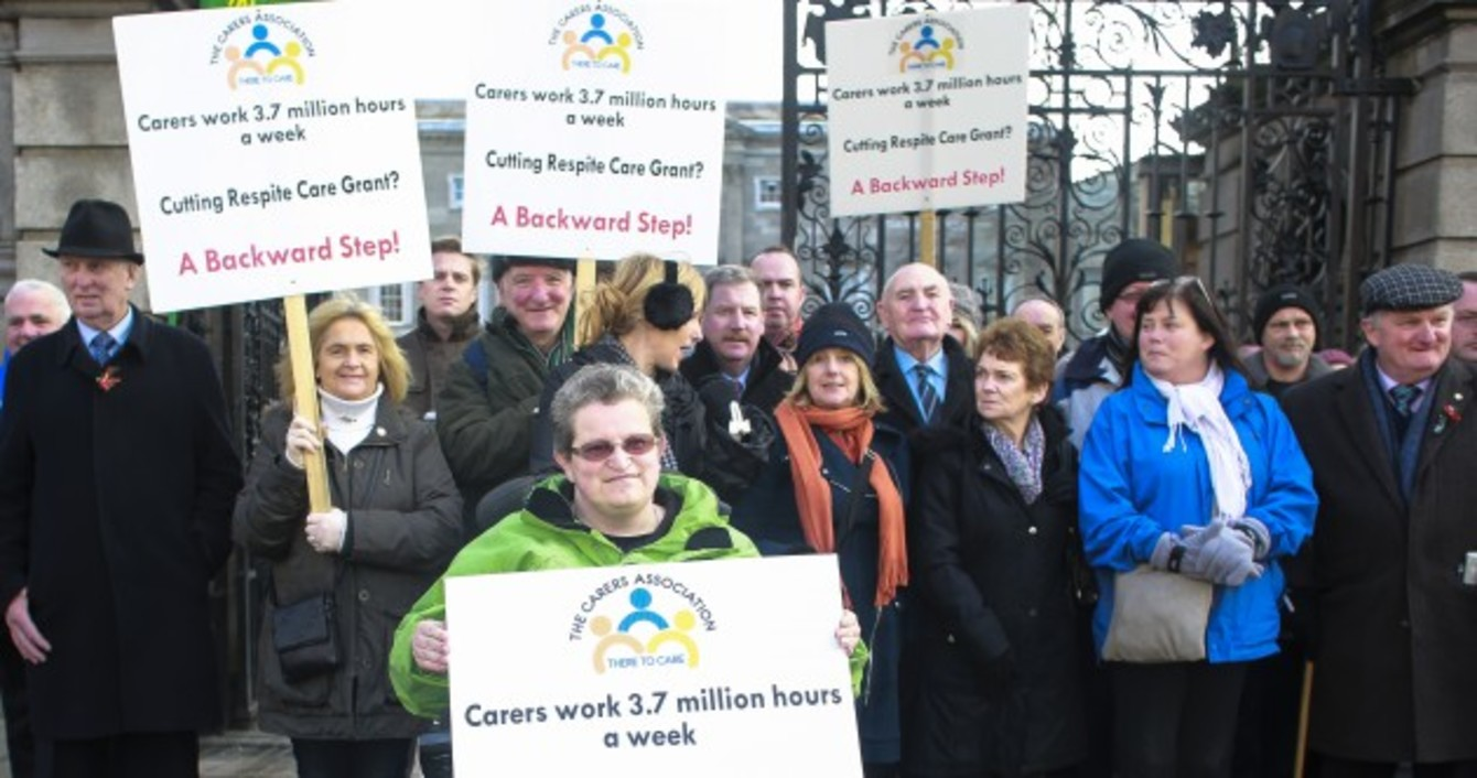respite care grant · thejournal ie photos carers hold protest against plans to cut respite care grant