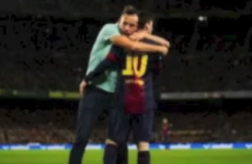 Living the dream: Fan stops game to give Messi a hug