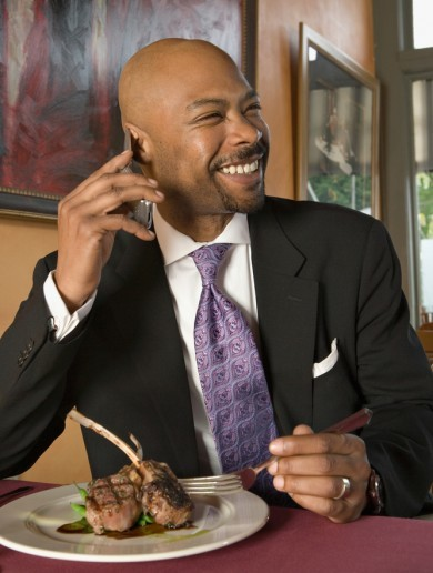 The burning question*: Is it okay to use your mobile in a restaurant?