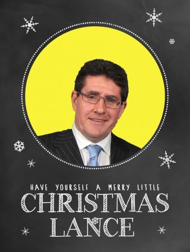 Happy Christmas, Lance! It's TheScore.ie's Christmas card list
