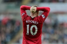 Wayne Rooney agrees with Swansea substitution