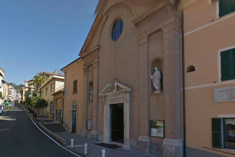 The church of the parish of San Terenzo where Fr Corsi pinned his Christmas notice.