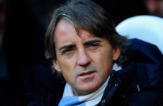 Roberto Mancini backs City's misfiring strikers
