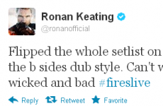Tweet Sweeper: Ronan Keating has a wicked new direction