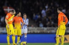 Vilanova left frustrated by Pique sending off