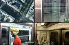 WATCH: Man races underground train… on foot