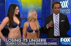 The new uniforms for the rebranded 'Legends Football League' are still basically lingerie