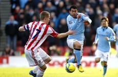 FA Cup: Late Zabaleta strike puts City past Potters