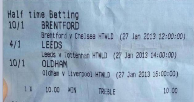 Someone won £6,050 thanks to the heroics of Brentford, Leeds and Oldham today