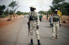 French and Malian forces patrol historic desert city of Timbuktu