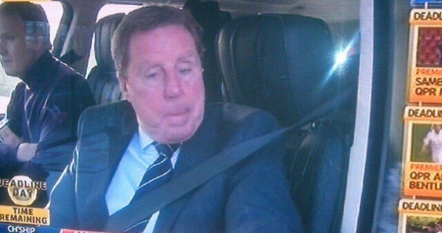 BREAKING: The first deadline day pic of Harry hanging out his car window