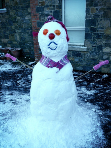 Terrifying Snowman Pic of the Day