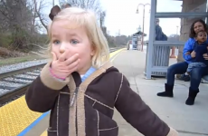 VIDEO: Little girl is adorably excited about riding a train