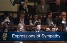 Shane McEntee's family in Dáil for expressions of sympathy