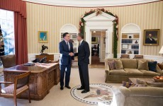 west wing oval office. Barack Obama Greets Mitt Romney In The Oval Office - Which Will Be Vacant While West Wing Undergoes Major Repairs. O