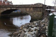 Wall collapses at Ringsend Bridge (Photos)