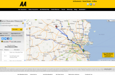 Major increase in number of American users of AA route planner