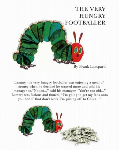 The Very Hungry Footballer... here's a sneak peak of Frank Lampard's new kids book*
