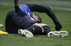 VIDEO: Diego Milito out for the season because of this horror injury